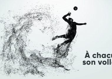 """visuel volleyeur en mouvement et """"à chacun son volley)"""